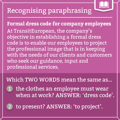 Recognizing Paraphrasing