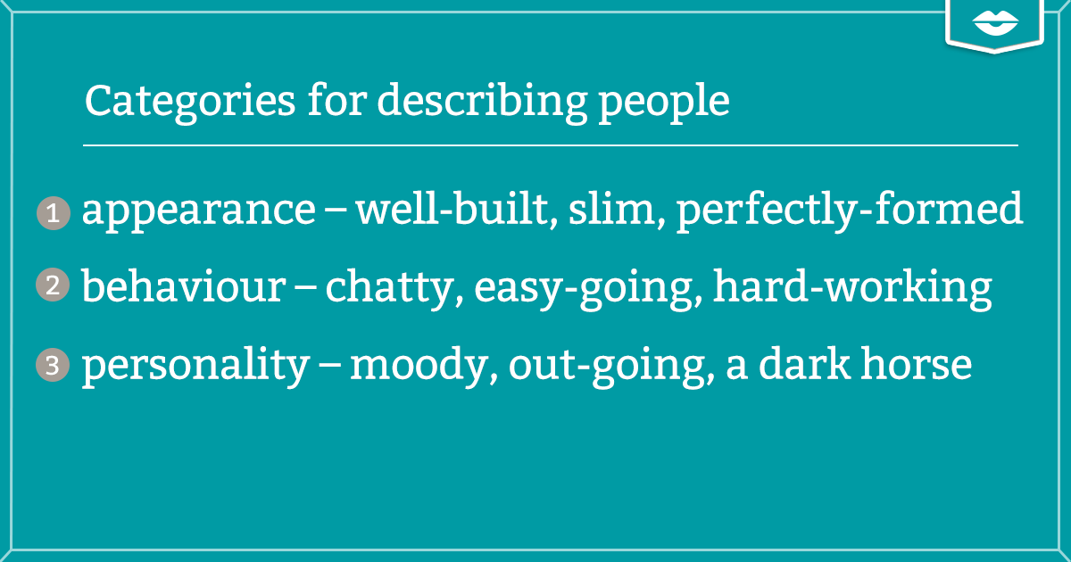 Categories for describing people