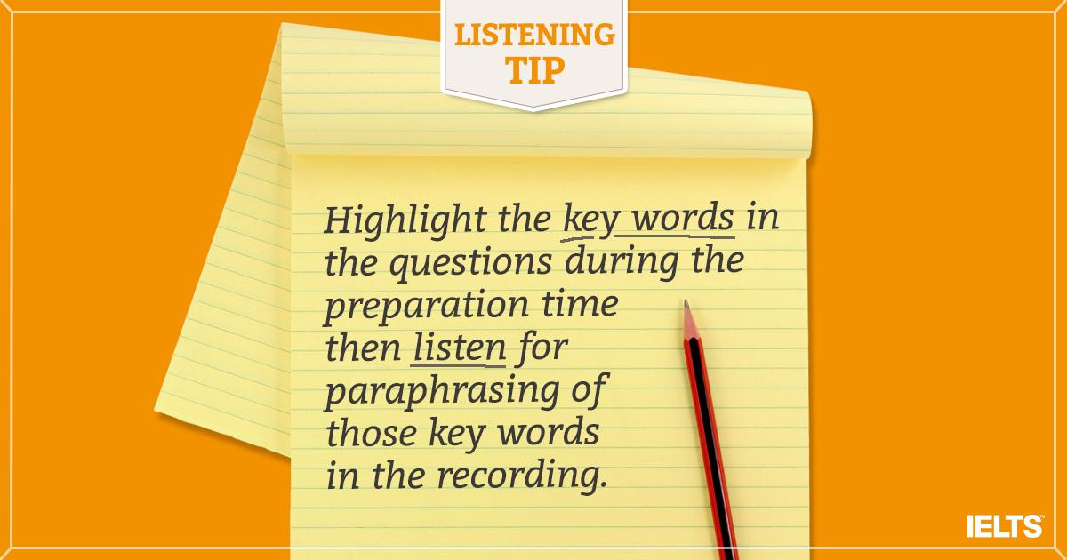 IELTS LISTENING TIPS!