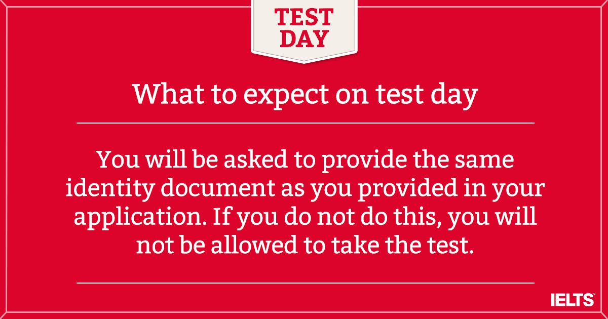 What to expect on test day?